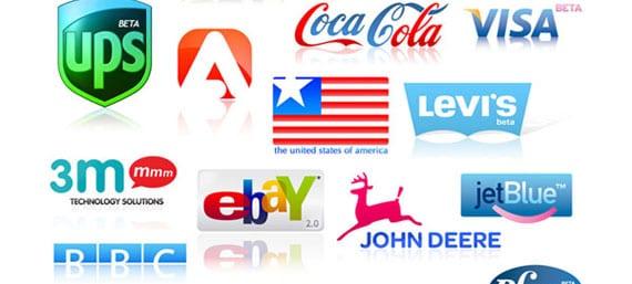 Paquete de logos famosos para descargar