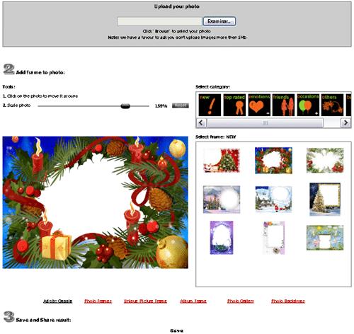 Marcos navideños para fotos online
