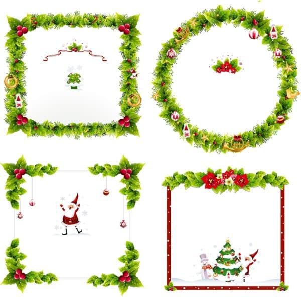 postales montajes y bordes de navidad para fotos