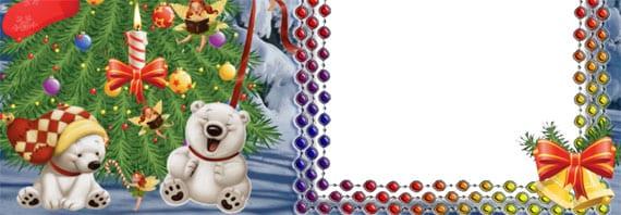 Bonito efecto para postal de Navidad