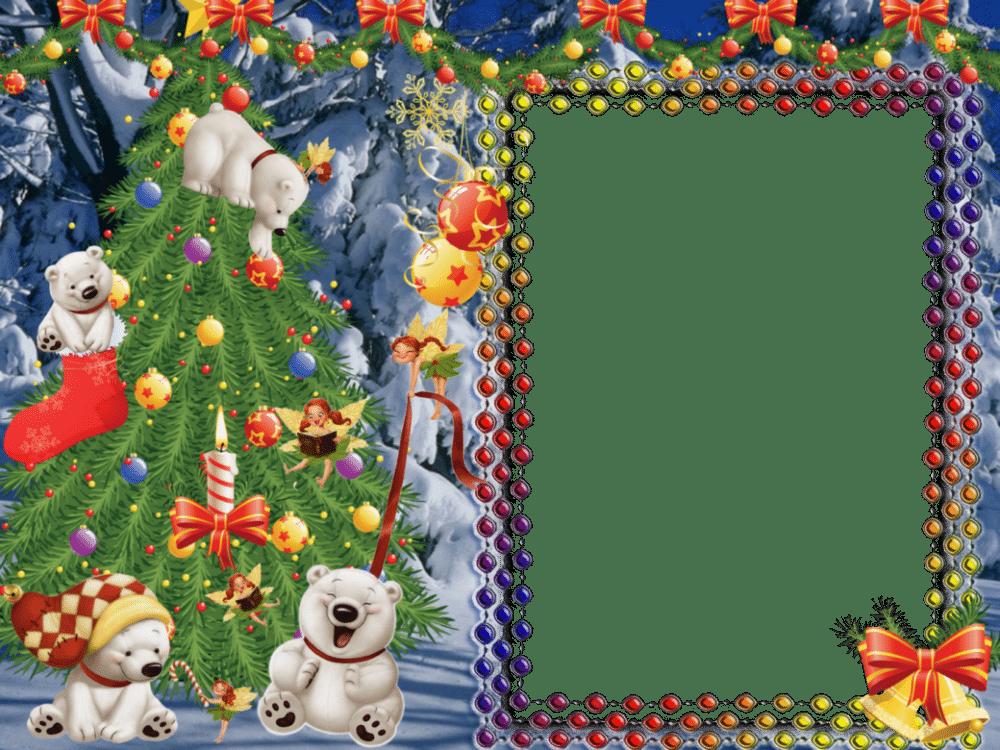 Postales, montajes y bordes de navidad para fotos