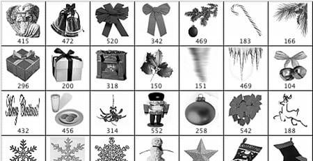pinceles_navidad_gratis_brushes_christmas