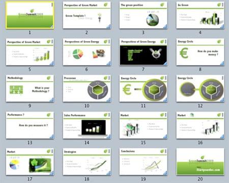 40 plantillas para Keynote y Power Point