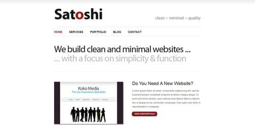 41 temas minimalistas y gratuitos para Wordpress