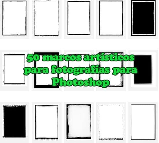 50 marcos artísticos para fotografías para Photoshop