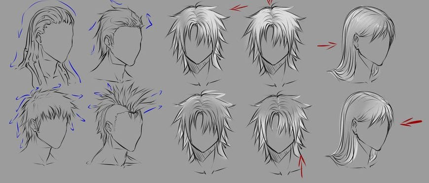 Ejemplos De Ilustraciones De Peinados Para Hombre Y Mujer