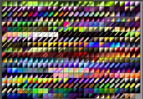 512 gradientes brillantes