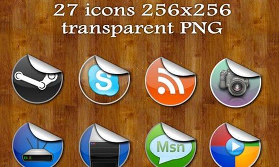 30 packs de iconos de pegatinas gratuitos