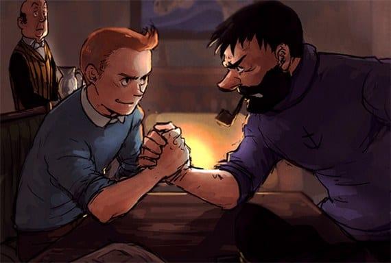 Ilustraciones de Tintin