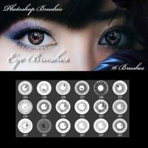 18 pinceles de ojos realistas