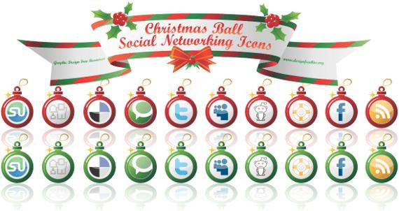 Iconos vectoriales navideños