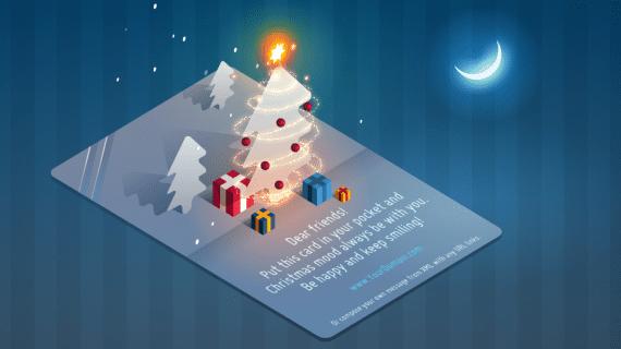 tarjeta navidea animada - Tarjeta De Navidad En 3d