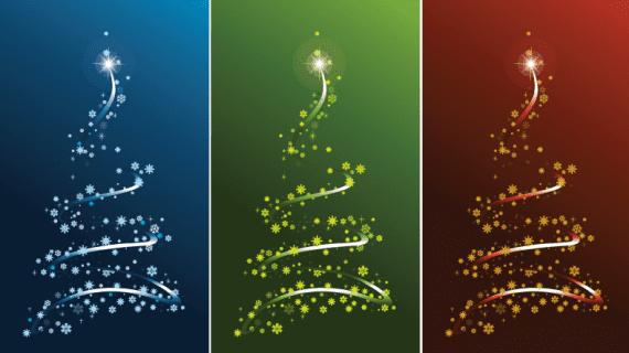 Vectores de árboles navideños