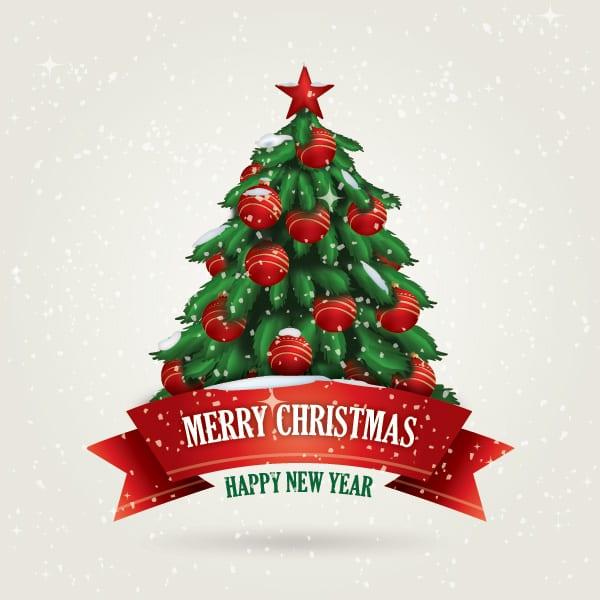 Vectores árboles navideños