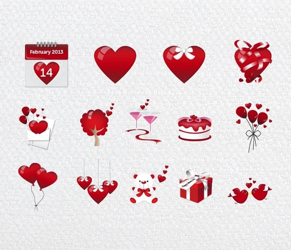 Iconos San Valentín