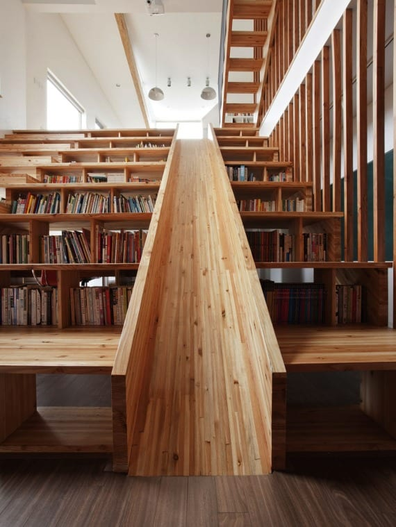 Biblioteca tobogán