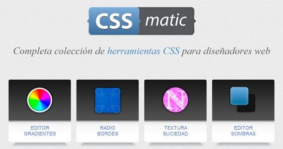 CSSmatic, herramienta para diseñadores Web