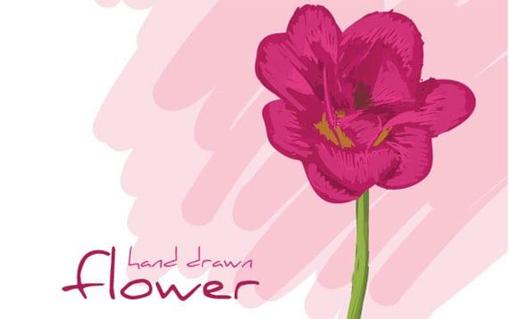 flores-dibujadas-a-mano
