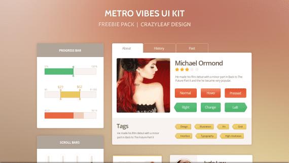 Kit de interfaz de usuario estilo Metro