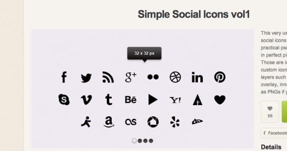 Pack de iconos minimalistas de redes sociales - 10 Iconos gratis (freebies)