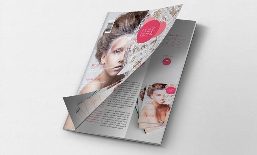 Mockup de revista