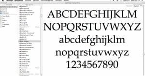 Catálogo Tipográfico (Mac) - tipografías y como gestionarlas