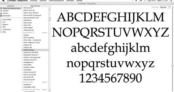 Catálogo Tipográfico (Mac) - cómo gestionar tus tipografías