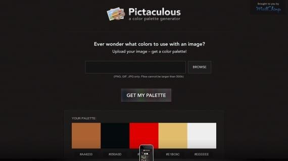 Pictaculous, paletas de colores