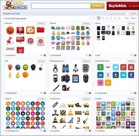 5 sitios web donde descargar iconos gratis