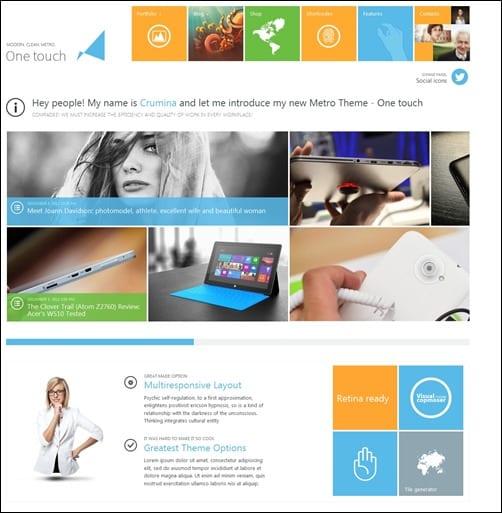 5 temas WordPress estilo Metro