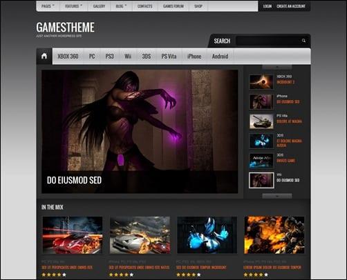 5 temas WordPress para sitios de juegos