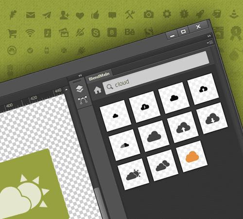 BlendMe, extensión para Photoshop que da acceso a miles de iconos gratis
