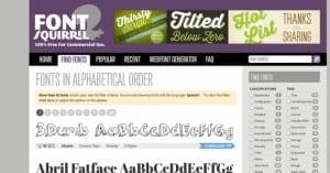 Font Squirrel, tipografías gratuitas de libre uso comercial
