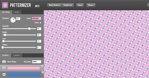Patternizer, estampados para diseño web