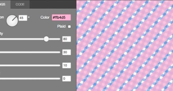 Imagen detalle de la interface de Patternizer