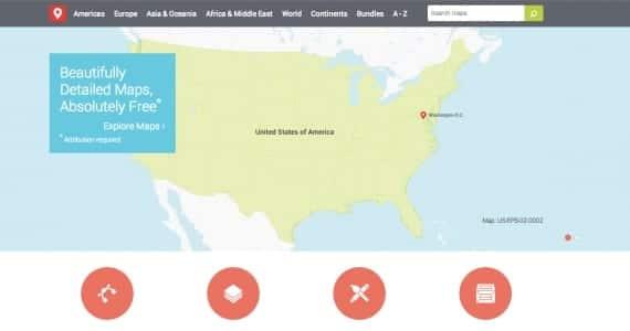 Vectores de mapas del mundo gratis