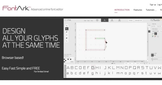 FontArk, el editor avanzado de tipografías on-line
