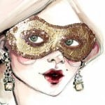 Masked Lady watercolor