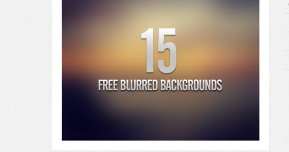 15 Blurred backgrounds