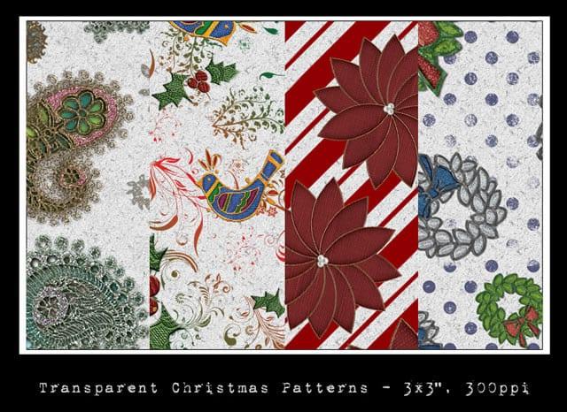 5 packs de patrones de navidad para Photoshop