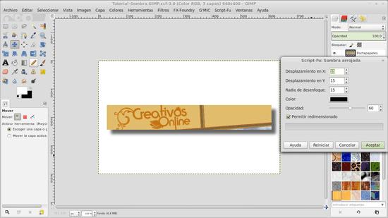 Cómo agregar un efecto de sombra a tus imágenes en GIMP