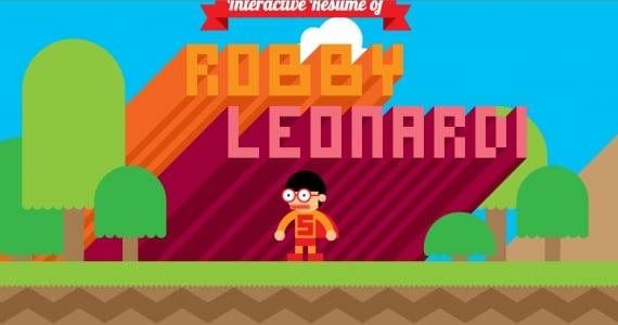 Robby Leonardi y su curriculum interactivo, el más divertido que has visto jamás