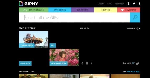 Gifphy, el buscador de gifs animados