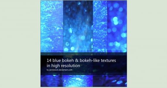 Efecto bokeh de color azul