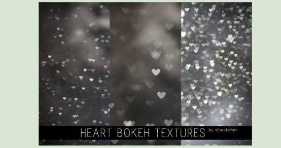 Bokeh plata con forma de corazón