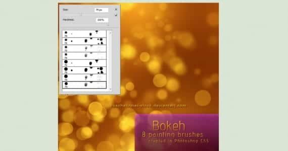 Brushes efecto Bokeh para Photoshop CS5