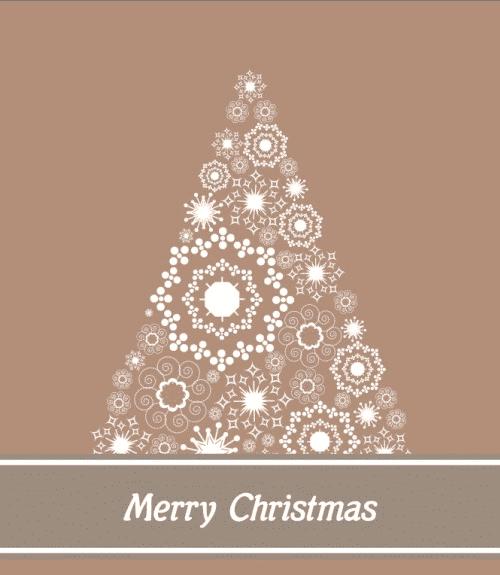 Postal de árbol de navidad