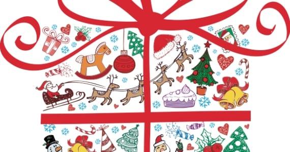 Pack de vectores, regalo navidad