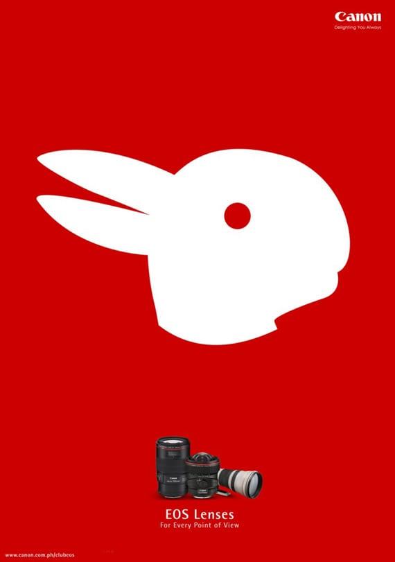 Anuncio conejo de canon
