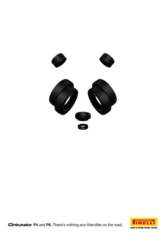 Diseño gráfico para Pirelli Panda